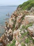 Russia, Vladivostok.Beautiful island of Shkot in sunny summer day royalty free stock image