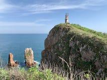 Russia, Vladivostok, Island of Shkot. Cape  of lighthouse.  royalty free stock photos