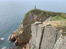Russia, Vladivostok, Island of Shkot. Cape  Mayachny. Ruins of old lighthouse. Russia, Vladivostok, Island of Shkot. Cape  Mayachny. Old lighthouse stock images
