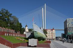 Memorial Submarine Museum S-56 in Vladivostok, Primorsky Krai in. Russia, Vladivostok, 26,08,2016 Memorial Submarine Museum S-56 in Vladivostok, Primorsky Krai Royalty Free Stock Images
