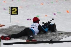 Biathlon. Biathlon competitions. Russia, Volgodonsk - dec 30 2015 Biathlon competitions stock image