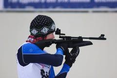 Biathlon. Biathlon competitions. Russia, Volgodonsk - dec 30 2015 Biathlon competitions stock images