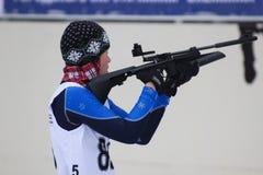 Biathlon. Biathlon competitions. Russia, Volgodonsk - dec 30 2015 Biathlon competitions royalty free stock photo
