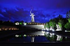 Russia. Volgograd. Mamaev kurgan. The monument. Memorial Motherland on Mamaev Hill at evening royalty free stock photos