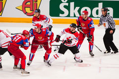 Russia vs. Canada. 2010 World Championship Royalty Free Stock Images