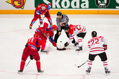 Russia vs. Canada. 2010 World Championship Royalty Free Stock Photo