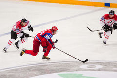 Russia vs. Canada. 2010 World Championship Stock Images