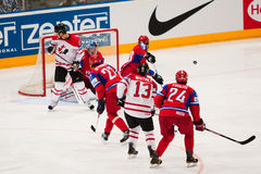 Russia vs. Canada. 2010 World Championship Stock Image