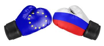 Russia vs EU Royalty Free Stock Photo