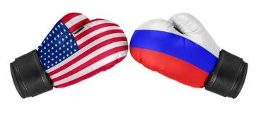Russia vs USA Royalty Free Stock Image