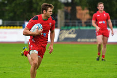 Russia vs Wales in Rugby 7 Grand Prix Series in Moscow Royalty Free Stock Photo