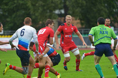 Russia vs Wales in Rugby 7 Grand Prix Series in Moscow Royalty Free Stock Photography