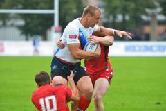 Russia vs Wales in Rugby 7 Grand Prix Series in Moscow Stock Images