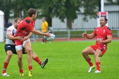 Russia vs Wales in Rugby 7 Grand Prix Series in Moscow Stock Image