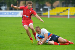Russia vs Wales in Rugby 7 Grand Prix Series in Moscow Stock Photo