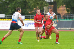 Russia vs Wales in Rugby 7 Grand Prix Series in Moscow Stock Photos