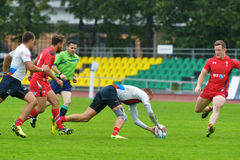 Russia vs Wales in Rugby 7 Grand Prix Series in Moscow Royalty Free Stock Images