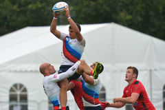 Russia vs Wales in Rugby 7 Grand Prix Series in Moscow Stock Photography