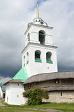 Russia, wall and bell tower of ancient Pskov kremlin Stock Photography