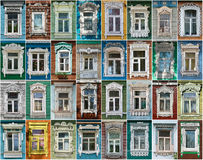 Russia. The windows of the city Borovsk. Royalty Free Stock Image