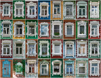 Russia. The windows of the city Vereya. Royalty Free Stock Photos