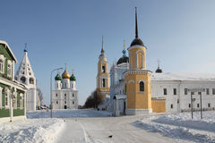 Russia  Winter Kolomna city center veiw Royalty Free Stock Photography