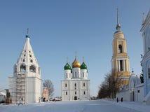 Russia  Winter Kolomna city center veiw Stock Photo