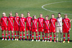 Free Russia Womens National Soccer Team Royalty Free Stock Image - 46142446