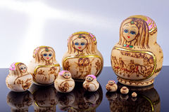 Russia wood doll Royalty Free Stock Photography