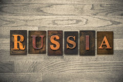 Russia Wooden Letterpress Theme Royalty Free Stock Photos