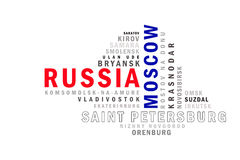 Russia word cloud Stock Images