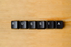 Russia word. With keyboard buttons Royalty Free Stock Photography