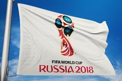 Russia 2018 world cup flag logo icon illustration stock images