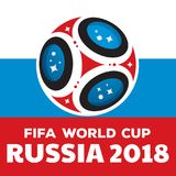 Russia world cup 2018. Illustration with flag Stock Photo