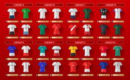 Russia World Cup Kits 2018 Stock Image