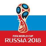 Russia world cup 2018. Vector illustration with flag Royalty Free Stock Photography