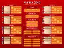 Russia World Cup schedule. A vector illustration of Russia World Cup 2018 schedule Royalty Free Stock Image