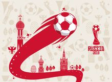 Russia 2018 world soccer. Icon vector illustration graphic design Stock Photography