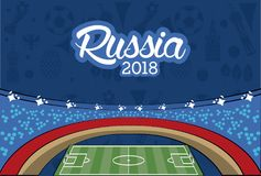 Russia 2018 world soccer. Vector illustration graphic design Royalty Free Stock Images