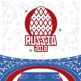 Russia 2018 world soccer. Vector illustration graphic design Royalty Free Stock Image