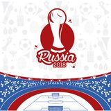 Russia 2018 world soccer. Vector illustration graphic design Stock Photography