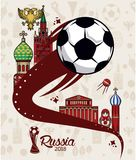 Russia 2018 world soccer. Vector illustration graphic design Royalty Free Stock Photo