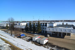 Russia, Yaroslavl-March 27.2016. building of river station in winter Stock Photography