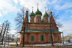 Russia, Yaroslavl-March 29.2016.  Church of St. Nicholas in  Tchaikovsky Street Royalty Free Stock Images