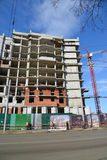 Russia, Yaroslavl-March 29.2016. Construction of multi-storey residential building Stock Photos