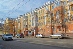 Russia, Yaroslavl-March 29.2016.  Svoboda Street - one of central streets of the city Royalty Free Stock Photo