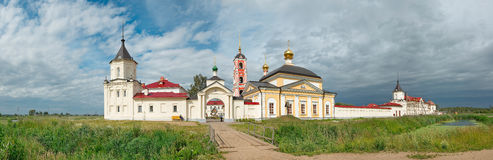 Russia, Yaroslavl region. Churches and bell tower. Of old russian orthodox Varnitsky monastery. Panorama Royalty Free Stock Photo
