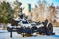 Russia. Yekaterinburg. Famous iconic places in the city . Winter city landscape . Russia. Yekaterinburg. Famous iconic places in the city . Winter city stock photo
