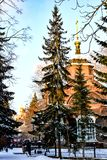 Russia. Yekaterinburg. Famous iconic places in the city . Winter city landscape . Russia. Yekaterinburg. Famous iconic places in the city . Winter city royalty free stock photos