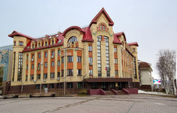 5.04.2012 Russia, YUGRA, Khanty-Mansiysk, Khanty-Mansiysk, the facade of the building branch Department of the Federal Treasury of Stock Photo
